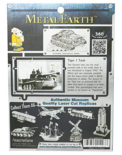 Fascinations Metal Earth MMS203 – 502462, Tiger 1 Panzer