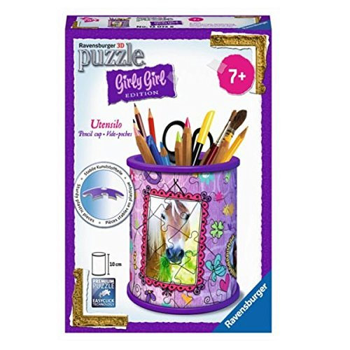 Ravensburger 12074 – Girly Girl Edition Utensilo Pferde 3D Puzzle